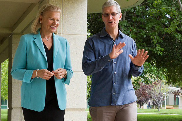 IBM CEO, Ginni Rometty and Apple CEO, Tim Cook collaborate a new partnership